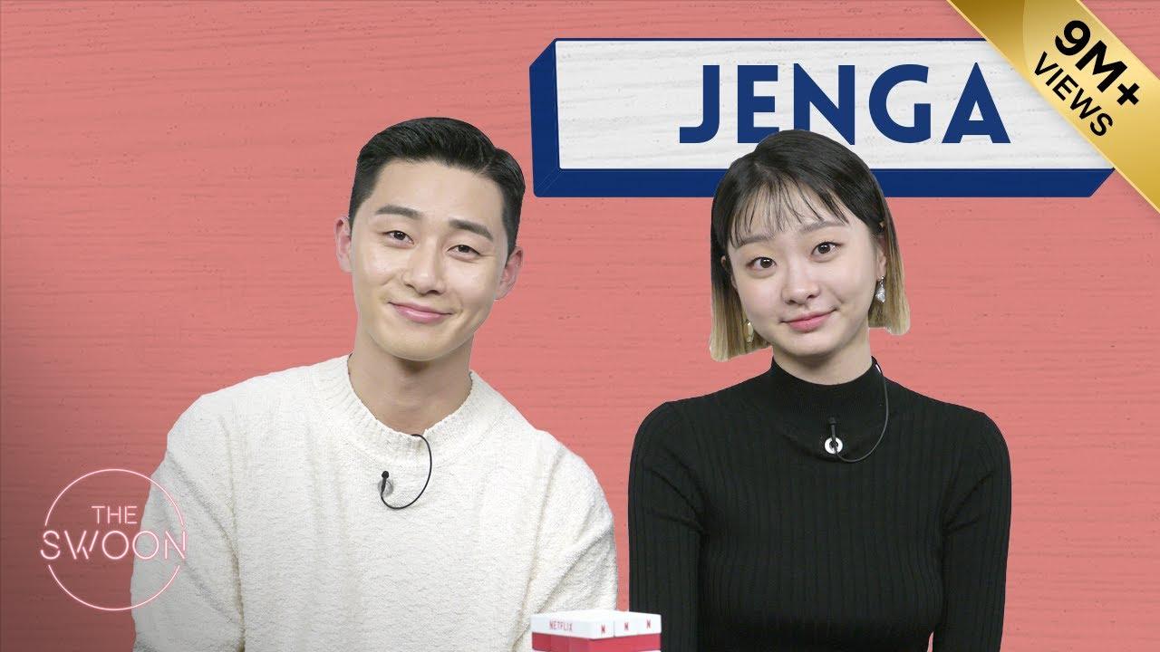 Park Seo-jun and Kim Da-mi play Jenga [ENG SUB]