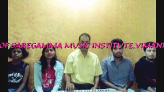 Vande Matram by students of saregamma music institute,vimannagar,pune,india.mp4