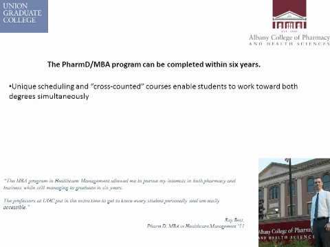 PharmD & MBA in Healthcare Management Joint Program