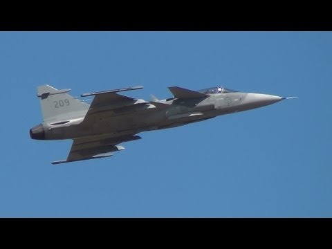 Swedish Air Force JAS-39C Gripen at RIAT 20th July 2013