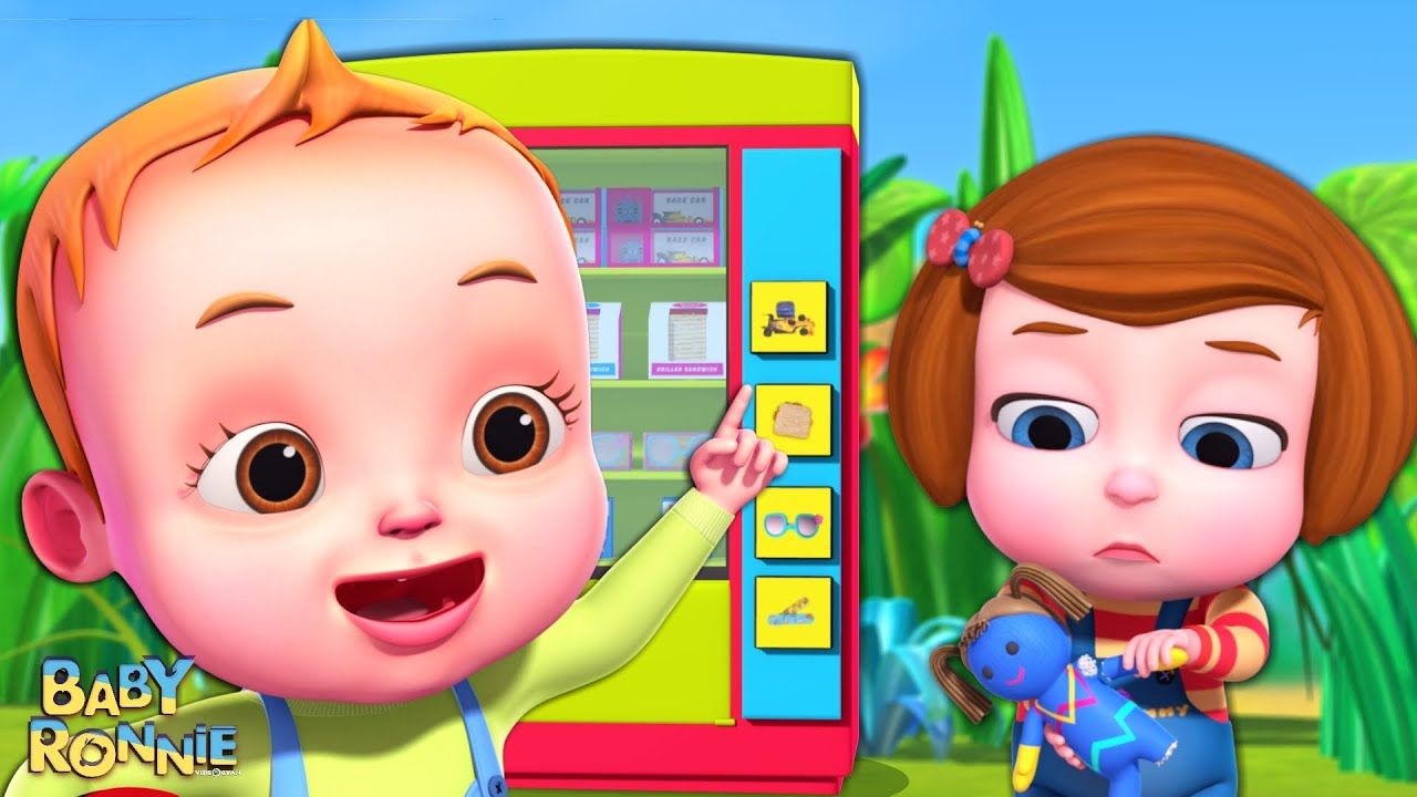 Baby Ronnie Helping Friends Song And More Nursery Rhymes & Kids Songs | Surprise Vending Machine