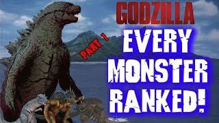 """Every """"Godzilla"""" Kaiju RANKED! (Part 1)"""