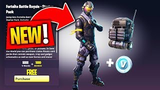 NEW! FREE FORTNITE STARTER PACK ROGUE AGENT SKIN + FREE VBUCKS! How to Unlock Rogue Agent FREE SKIN
