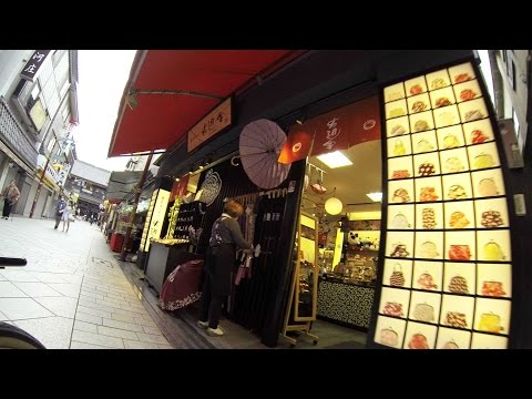 TOKYO TEMPLE VISIT BIKE RIDE with GoPro - Direct Route from Haneda Airport Entrance Door