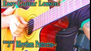 BASIC Guitar Rhythms, how to Play: 3/4, 2/4 *&* 4/4 Ballads! ~{ALL PARTS}~
