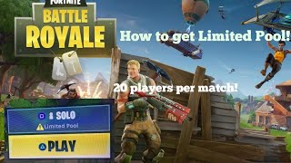 How to get Limited Pool on Fortnite Battle Royale (Console)