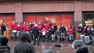 She Boom group in Glasgow, Scotland, Feb 2012
