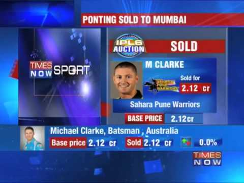Clarke & Punter go at base price at IPL auction!