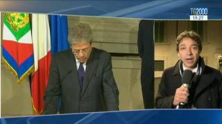 Il presidente del consiglio Paolo Gentiloni presenta la lista dei nuovi ministri