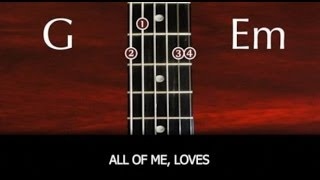 Learn to play All Of Me by John Legend - SLOW VERSION with chords and lyrics
