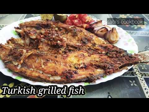 Turkish Style Grilled Fish/fish Grill/how To Make Fish Grill/simple And Easy Recipe