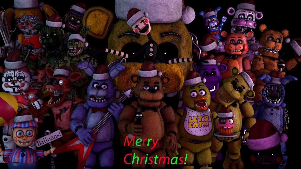 Fnaf Christmas.Fnaf Sfm Merry Fnaf Christmas Song By Jt Music