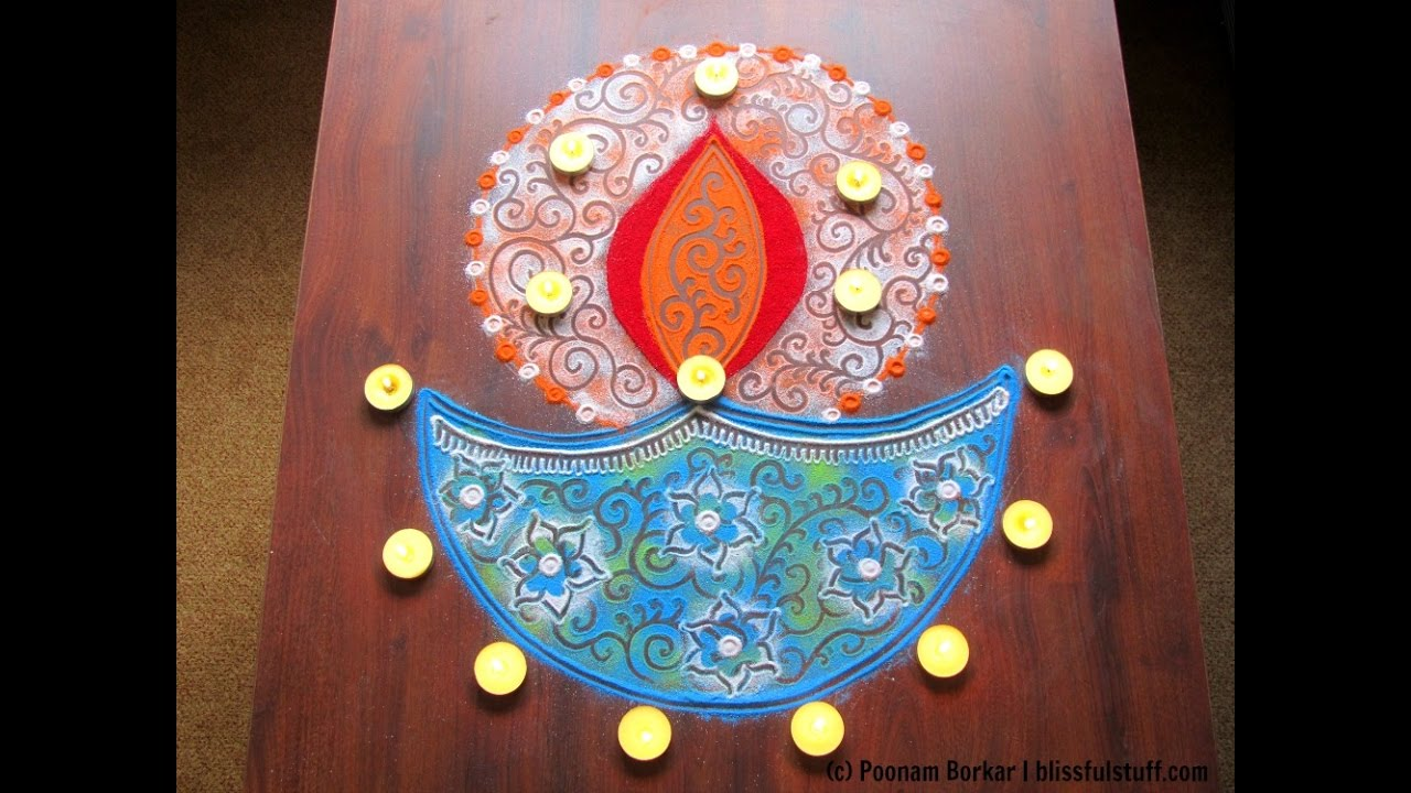 Diya rangoli design for diwali | Innovative rangoli designs by ... for rangoli designs for diwali with diya  157uhy