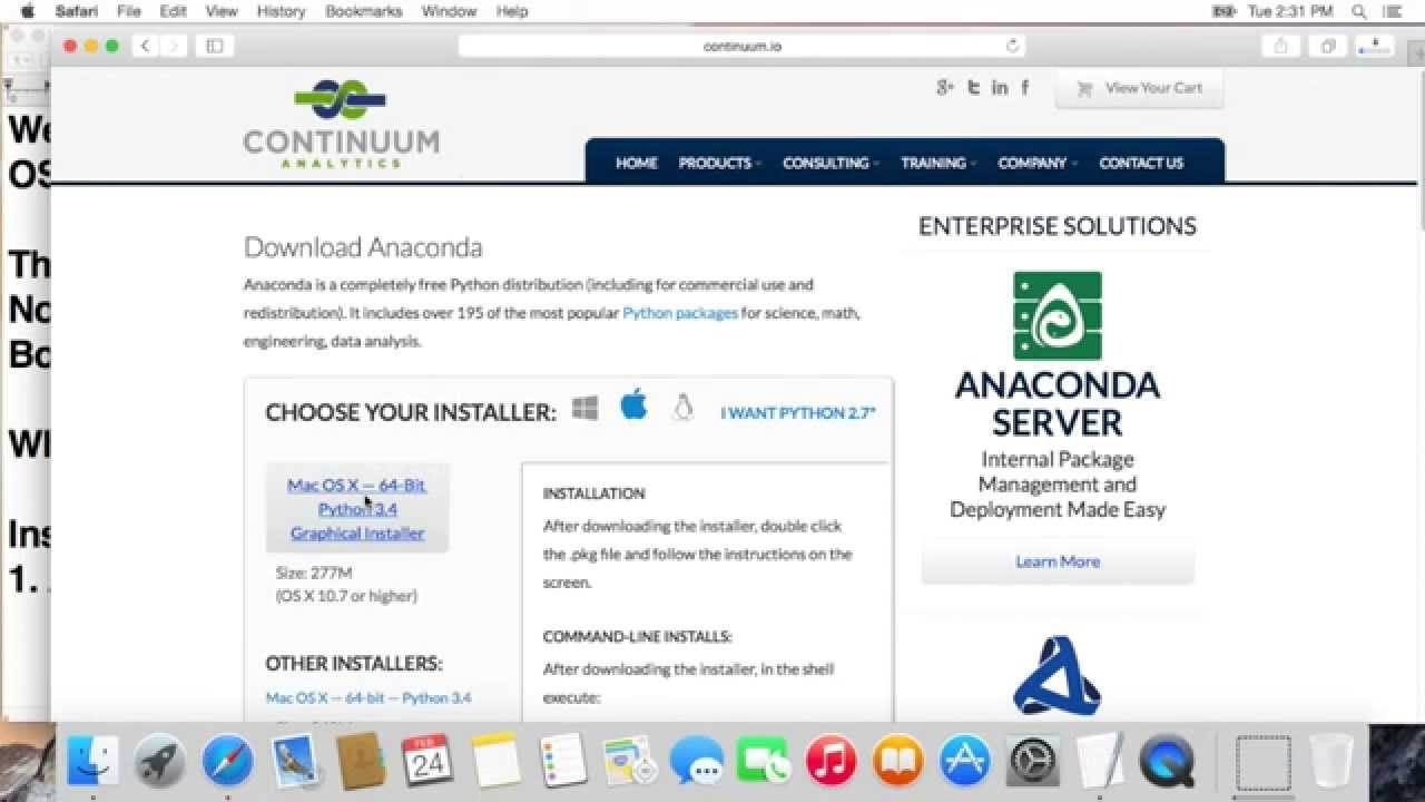 download anaconda for mac