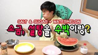 소금,설탕을 수박이랑 먹기 - 허팝 (SALT & SUGAR + Watermelon)
