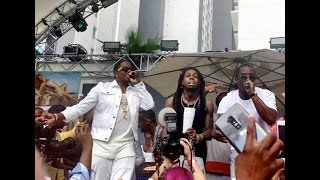"Lil Wayne, Diddy & Ma$e Perform ""Mo Money Mo Problems"" At Foxtail Pool Club In Las Vegas"