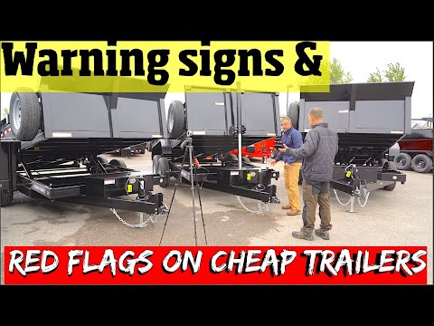 How NOT To Buy A Dump Trailer! RED FLAGS & How Cheap Trailers CUT Quality Pt 1/2 . 4 K Video