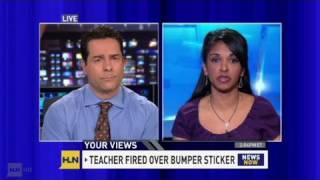 CNN: Teacher fired f๐r her bumper sticker