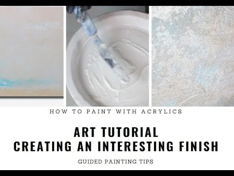 Creating Oil-Like / Textured Finish on Acrylic Painting - Guided Easy Art Tutorial thumbnail