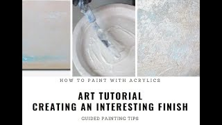 Creating Oil-Like / Textured Finish on Acrylic Painting - Guided Easy Art Tutorial
