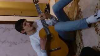 Даг играет на гитаре   В небе звезды горят Еза хьо