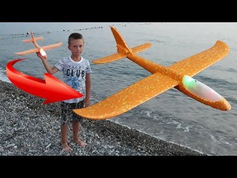 Самолет планер из пенопласта с Алиэкспресс Как собрать и запускать