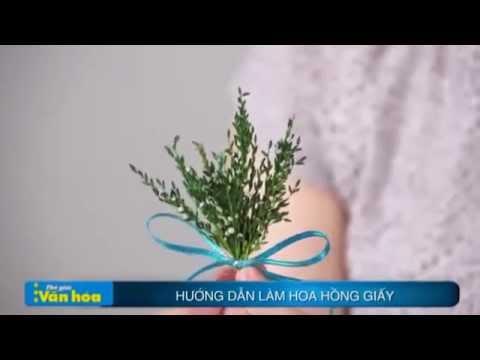 Hướng dẫn làm hoa hồng cực đẹp mà đơn giản từ giấy nhún- cachcamhoadep.com