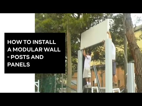 Modular Wall Systems - Post and Wall construction. www.modul