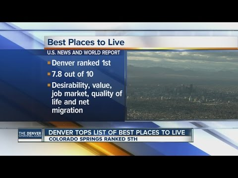 Denver tops list of best places to live