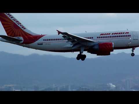 Air India Airbus A310-300 VT-EJJ landing at KIX (Osaka-Kansai Airport)