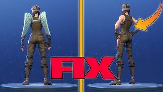 BACKBLING GLITCH RESOLVED - DEFAULT SKIN AND WITHOUT RUCKSACK PLAY - FORTNITE BATTLE ROYALE ENGLISH