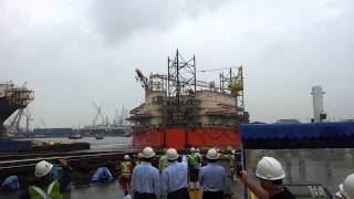 b325 jack up oil rig launch