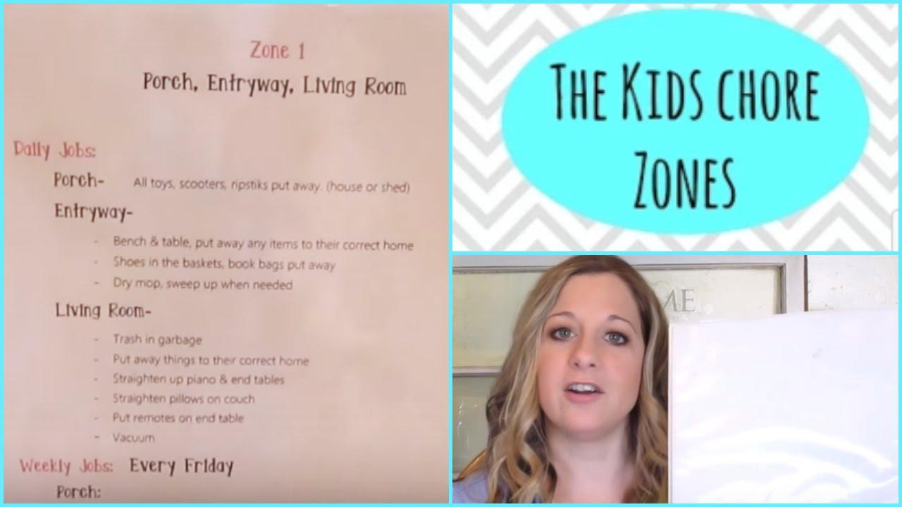 The kids chore zones  cfavorite organized children   spaces   collab also rh youtube