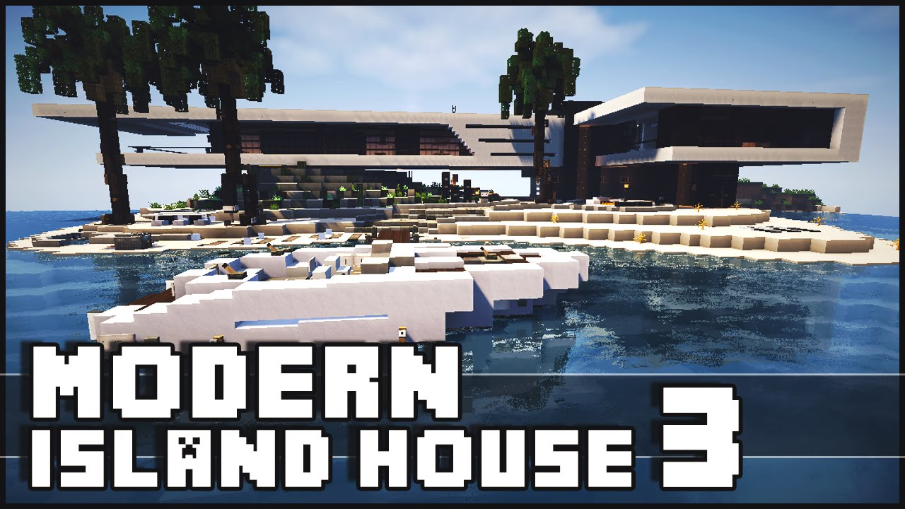 Minecraft Modern Island House 3 YouTube