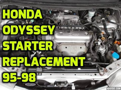 Honda Odyssey Starter Replacement 1995 1996 1997 1998 2 2 L Youtube