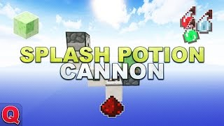 Minecraft - Tiny Splash Potion Cannon // Trank-Kanone - (Quick) Tutorial 1.8