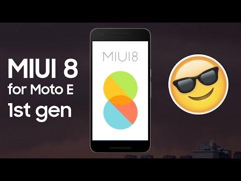 How to install MIUI 8 on Moto E 1st gen(condor)