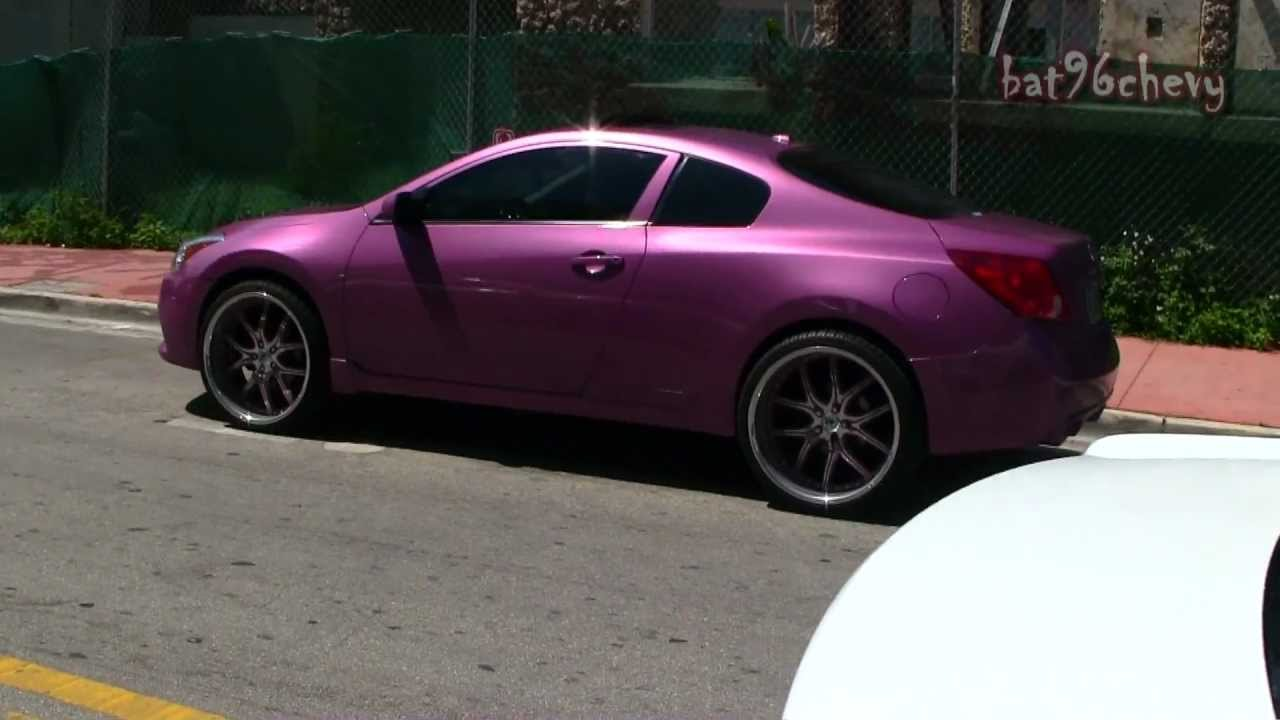 Pink nissan altima coupe on 22 asantis staggered wheels 1080p pink nissan altima coupe on 22 asantis staggered wheels 1080p hd youtube vanachro Gallery