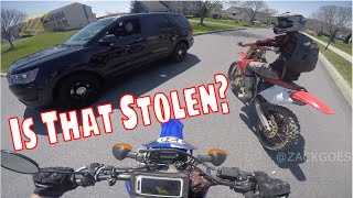 State Trooper Doesn't Impound Our Dirt Bikes, Cool Cop