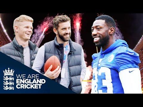 NFL v England Cricket: Sam Billings and Liam Plunkett Meet LA Rams' Brian Quick