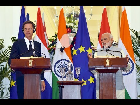 PM Narendra Modi and Netherlands' PM Mark Rutte at Joint Press Statement
