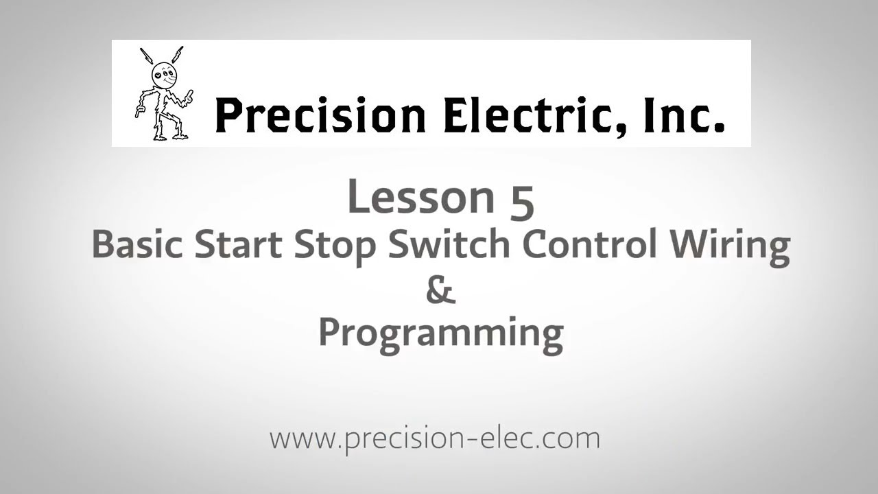 lenze smv training lesson 5: basic start stop selector switch control wiring  & programming - vfds