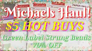 Michael's HAUL: $5 HOT BUYS!! 70% OFF Select Beads