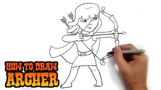 How to Draw Archer | Clash of Clans