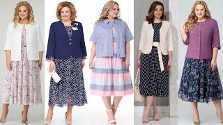 Женские платья и юбки с жакетами больших размеров