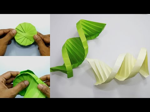How to make DNA Model, Paper crafts, Paper crafts for school