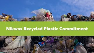 Nikwax Recycled Plastic Commitment