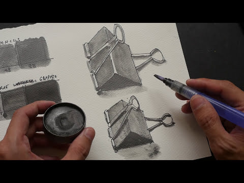 Pen & Ink with Watersoluble Graphite Demo