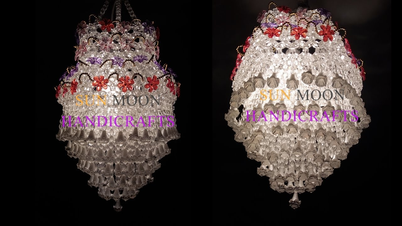 How To Make Beaded Chandelier Part 01 Lampshade Diy Jhar Bati