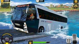 River Bus Driver Tourist Coach Bus Simulator 2020-Drive in water -Bus driving games screenshot 1